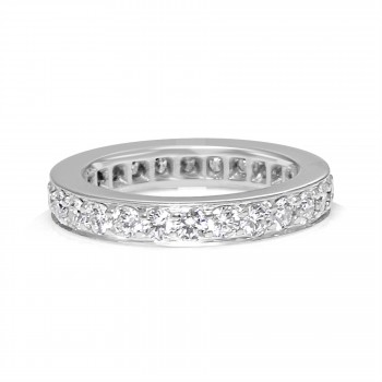 14k w/g channel set diamond eternity band 1.25ctw