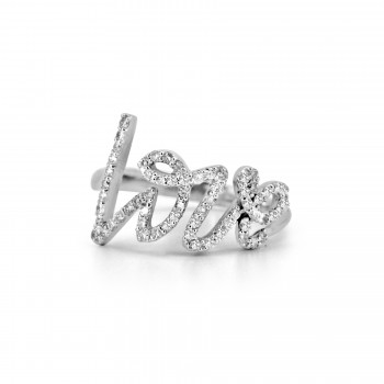 14K w/G DIAMOND LOVE RING