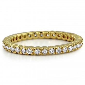 1.00ctw 14k Y/G Round Diamond Eternity Wedding Band