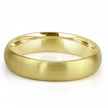 14k y/g mens band satin finish